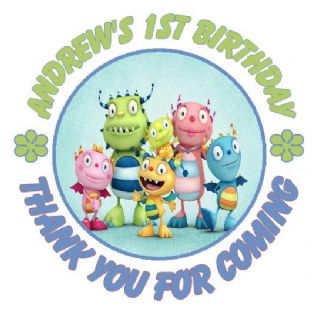 Personalised Henry Hugglemonster Party Stickers